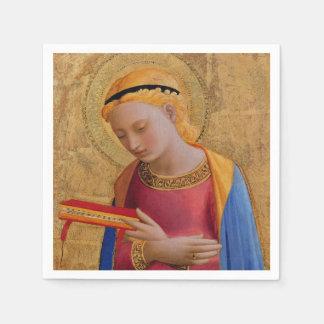 Vintage Golden Christian Holy Figure Paper Napkin