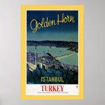 Vintage Golden Horn Istanbul Turkey travel Print