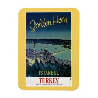 Vintage Golden Horn Istanbul Turkey travel Rectangular Photo Magnet
