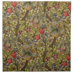 Vintage Golden Lilly Floral Design Printed Napkins