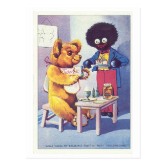 Vintage Golden Shred Teddy Bear Ad Postcards