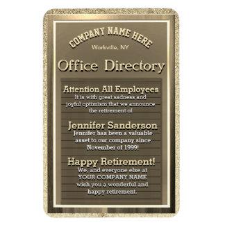 Vintage Golden Sign Retirement Gift Magnet