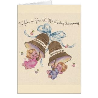 Vintage Golden Wedding Anniversary Card