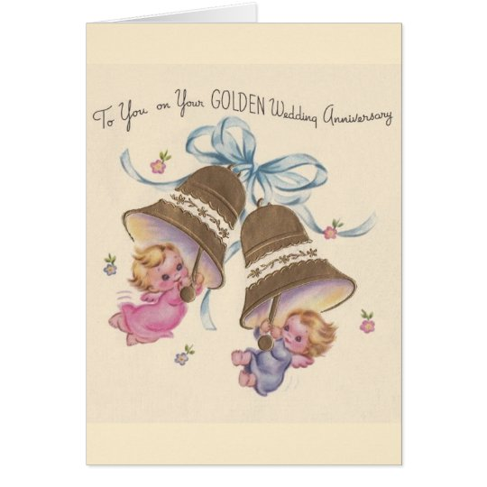 Vintage Golden Wedding Anniversary Card