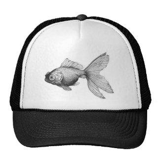 Vintage Goldfish Illustration Hat