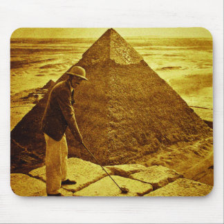 Vintage Golf at the Pyramids Mouse Mat
