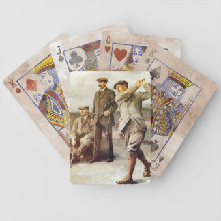 Vintage Golf Bicycle Playing Cards