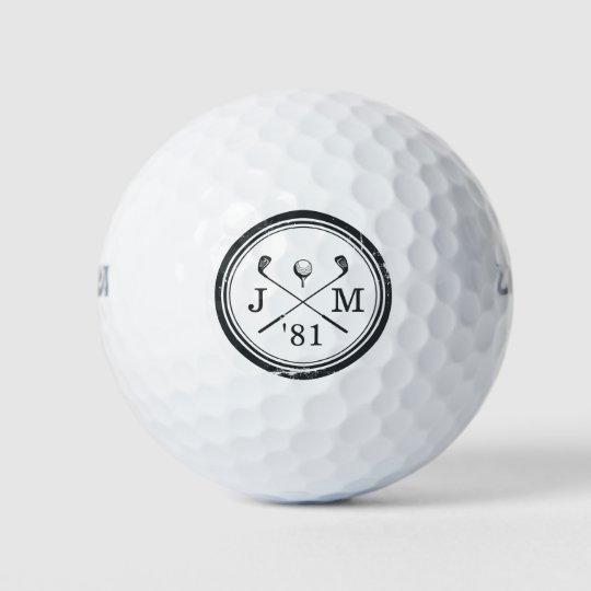 Personalised vintage golf balls