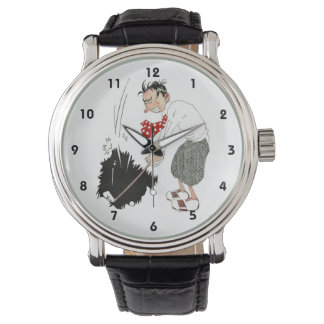 Vintage Golf Sports Humor, Funny Silly Golfer Watch