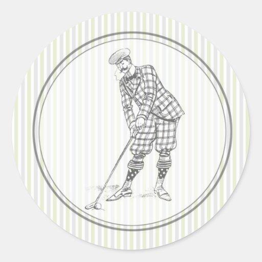 Vintage Golf Sticker - Gentleman Golfer