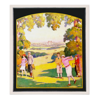 Vintage Golf - The Battle Creek Idea Watercolour Poster
