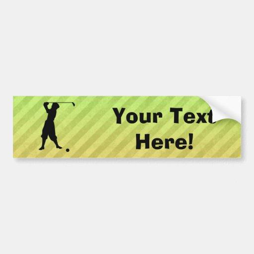 Vintage Golfer Bumper Sticker