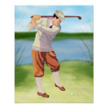 Vintage Golfer by Riverbank Archival Print