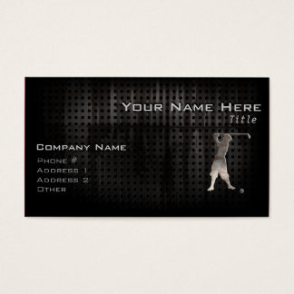 Vintage Golfer; Cool Business Card