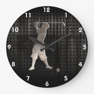 Vintage Golfer; Cool Large Clock