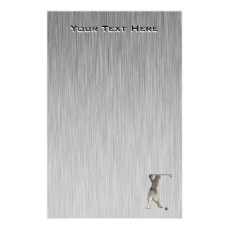 Vintage Golfer; Cool Personalized Stationery