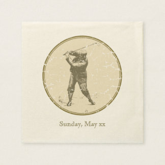 Vintage Golfer Disposable Napkin