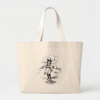 Vintage Golfer Girl Jumbo Tote Bag