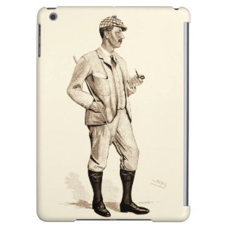 Vintage Golfer with Tobacco Pipe and Boots