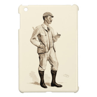 Vintage Golfer with Tobacco Pipe and Boots iPad Mini Cases