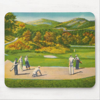 Vintage Golfers Mouse Pad