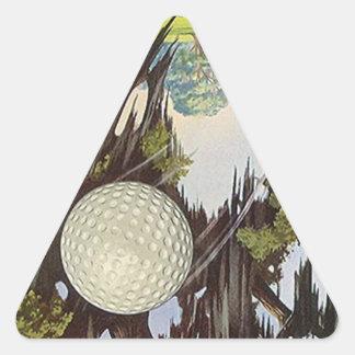 Vintage Golfing Golf Stickers Golf Ball In Flight