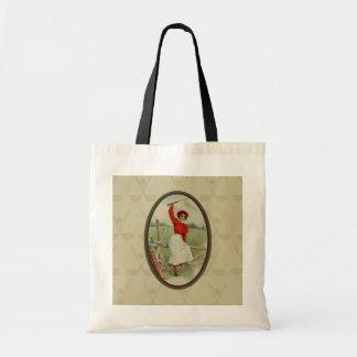 Vintage Golfing Lady Art (two) Budget Tote Bag