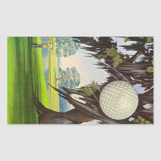Vintage Golfing Sport Golf Stickers Travel Trips