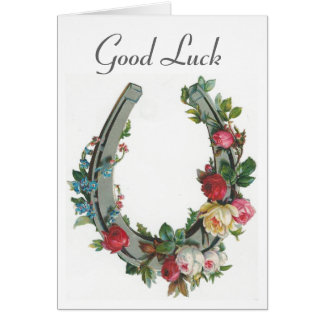 Vintage - Good Luck Greeting Card