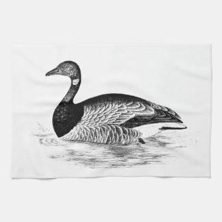 Vintage Goose Illustration -1800's Geese Template Tea Towel