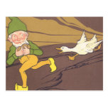 Vintage Goose that Laid the Golden Egg Aesop Fable Postcard