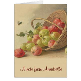 Vintage gooseberries note card