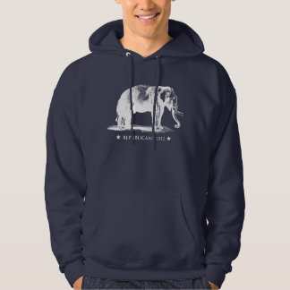 Vintage GOP Elephant Republican Hooded Sweatshirt