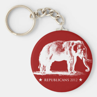 Vintage GOP Republican Elephant 2012 Button Basic Round Button Key Ring