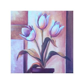 """Vintage Gorgeous Tulip 12x12"""", 1.5"""", Single canvas"""