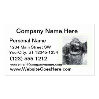 Vintage Gorilla primate drawing sketch design Pack Of Standard Business Cards