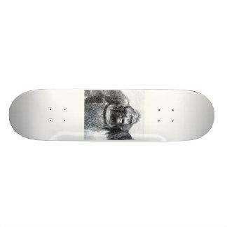 Vintage Gorilla primate drawing sketch design Skateboard Deck