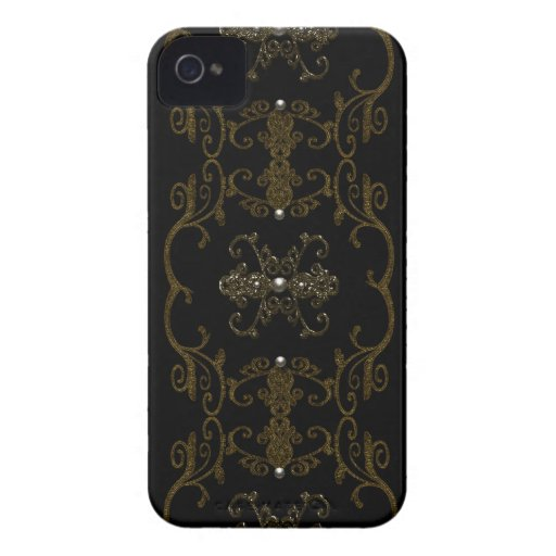 Vintage Gothic Elegance Jewels Case-Mate iPhone 4 Case