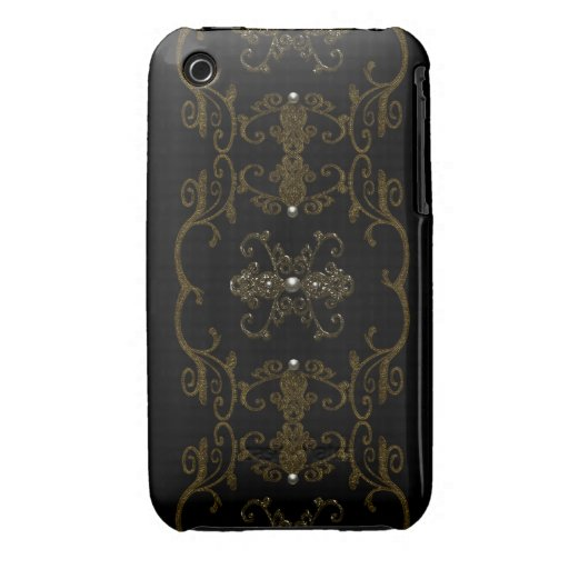 Vintage Gothic Elegance Jewels iPhone 3 Covers