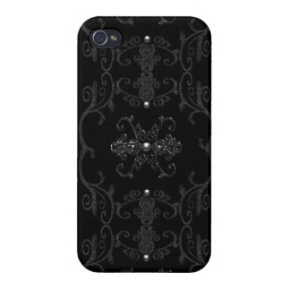 Vintage Gothic Elegance Jewels iPhone 4 Cover