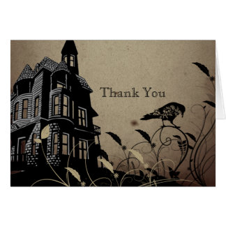 Vintage Gothic House Anniversary Thank You Card