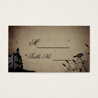 Vintage Gothic House Wedding Place Card