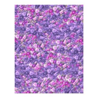 Vintage Gothic Rose Lavender Purple 21.5 Cm X 28 Cm Flyer
