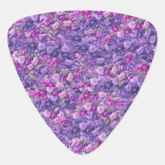 Vintage Gothic Rose Lavender Purple Guitar Pick