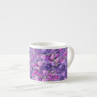 Vintage Gothic Rose Lavender Purple Espresso Mug