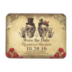 Vintage Gothic Skeleton Couple Save The Date Magnet