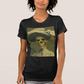 Vintage Gothic Skeleton Lady T Shirt