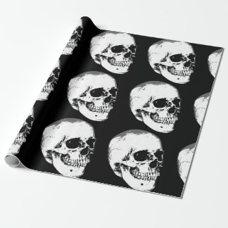Vintage Gothic Skull Wrapping Paper