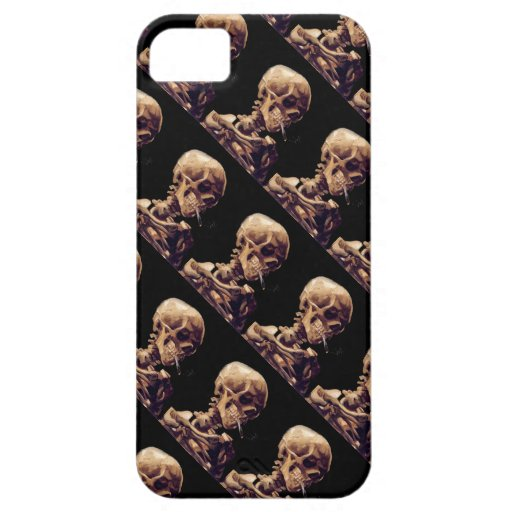 Vintage gothic smoking skeleton by Van Gogh Cover For iPhone 5/5S