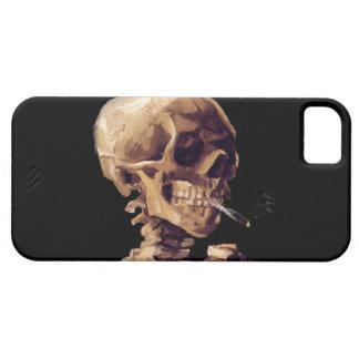 Vintage gothic smoking skeleton by Van Gogh iPhone 5 Cover